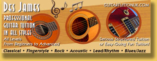 Guitar Tuition Web Site